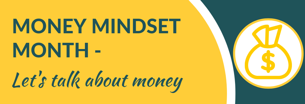 money mindset month for counsellors and therapists at Grow your private practice