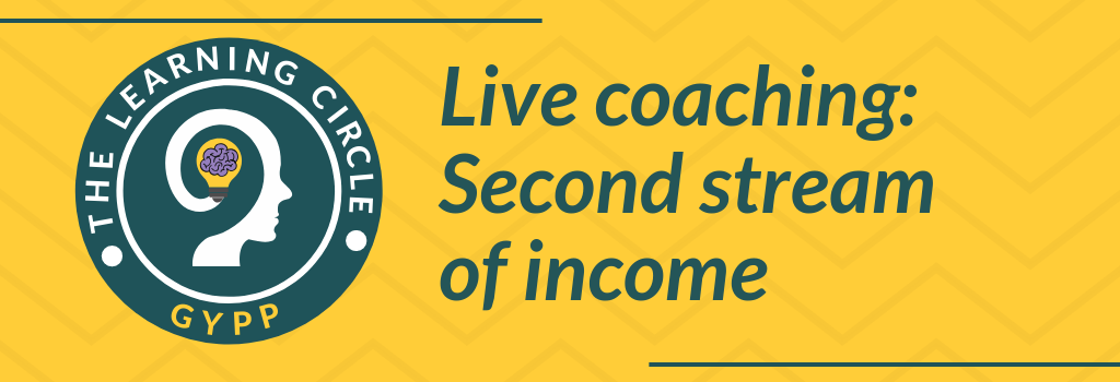Live coaching: How to start a second stream of income - for counsellors and therapists